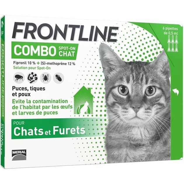 50% de réduction : la pipette anti-puces et anti-tiques pour chat Frontline