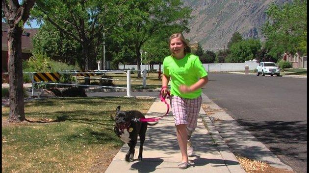 Cette fillette qui a perdu une jambe se sentait seule jusqu'à ce qu'elle rencontre un chien comme elle