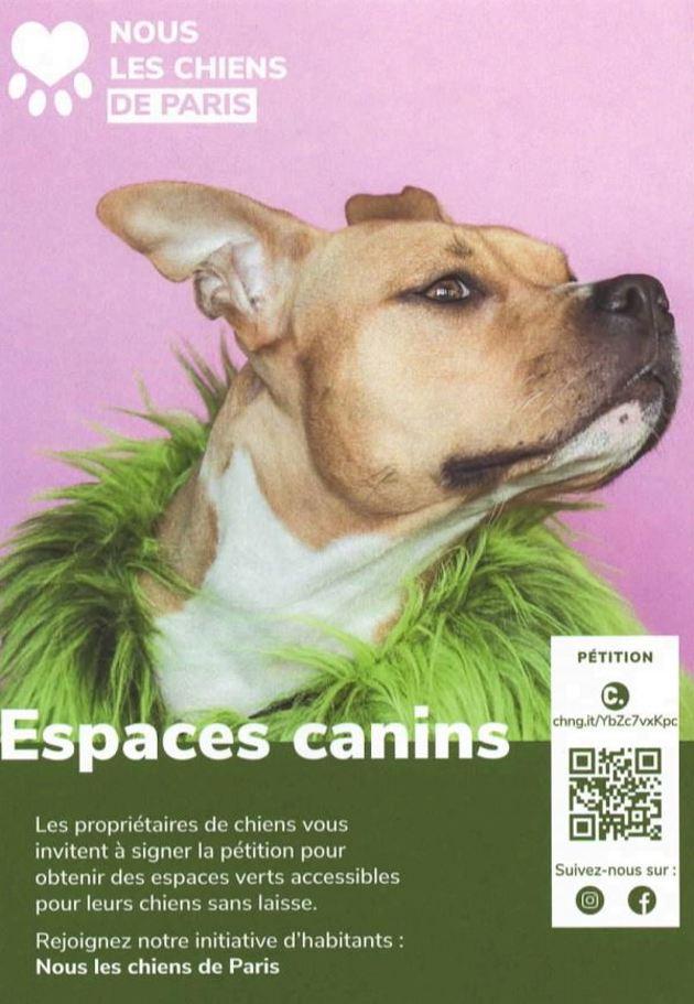 PETITION : Les chiens parisiens entrent en campagne pour des espaces verts canins à Paris !