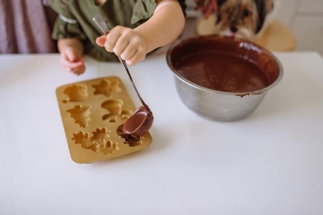 chocolats de Noël, chien