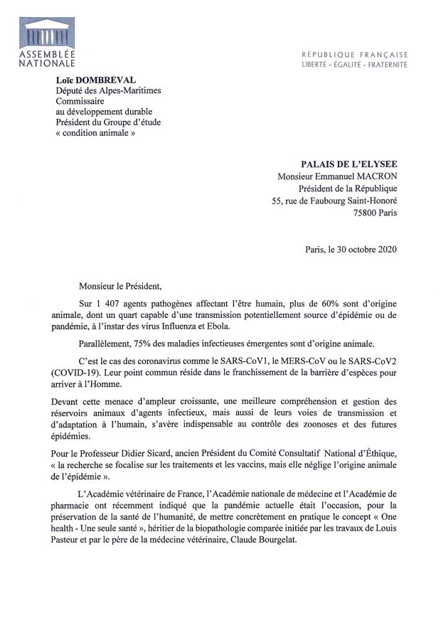 Le député Loïc Dombreval appelle à intégrer des vétérinaires au Conseil scientifique COVID-19