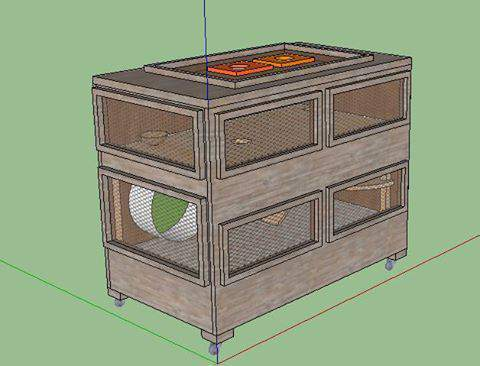 avis pour une nouvelle fabrication de cage forum hamster hamster wamiz. Black Bedroom Furniture Sets. Home Design Ideas