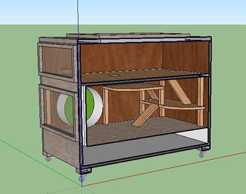 avis pour une nouvelle fabrication de cage forum hamster hamster wamiz. Black Bedroom Furniture Sets. Home Design Ideas
