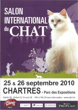 Salon du chat de chartres 25 et 26 septembre 2010 forum for Salon chat sexe