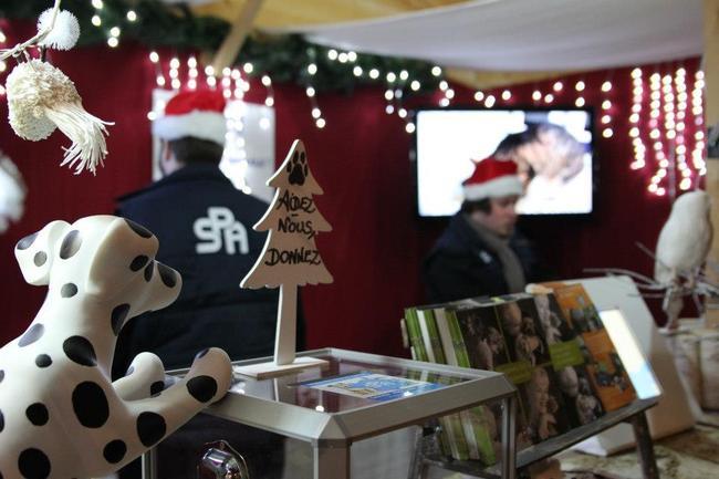 La SPA s'installe dans un chalet sur les Champs-Elysées pendant le marché de Noël