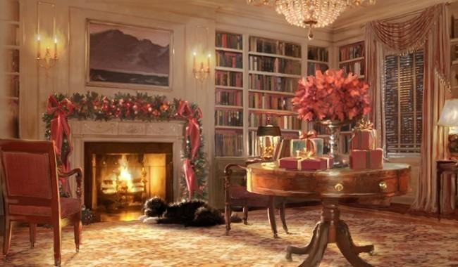 le chien Bo sur la carte de voeux de la famille Obama en 2011