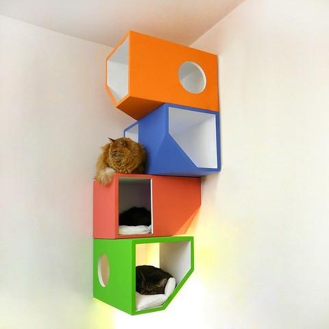 Un palace pour chat dans un petit appartement, c'est possible !