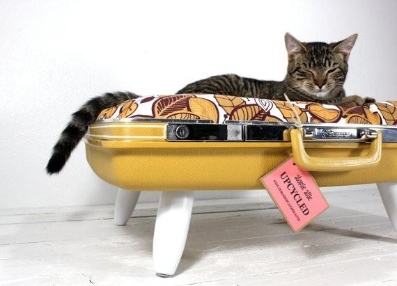 quand des objets recycl s deviennent des nids douillets pour chat conso wamiz. Black Bedroom Furniture Sets. Home Design Ideas