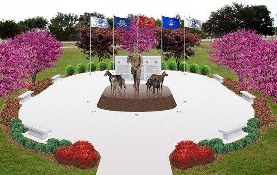 monument chiens militaires