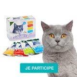 Testez le pack émincés en sauce pour chat de Equilibre & Instinct !