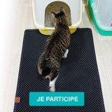 Testez le tapis attrape-litière pour chat de King Cat !