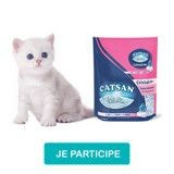 Testez la litière Catsan™ Cristal Plus !