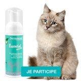 Testez le soin nettoyant sans rinçage pour chat Essential Mousse® de Dermoscent® !