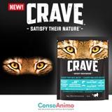 Testez les croquettes CRAVE™ au saumon et aux poissons blancs avec votre chat