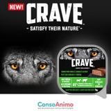 Testez les barquettes CRAVE™ à l'Agneau et au Bœuf pour chien