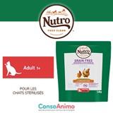 Testez NUTRO™ Grain Free au poulet frais avec votre chat stérilisé