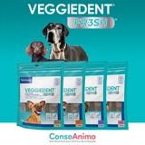Testez les lamelles dentaires Veggiedent Fresh avec votre chien !
