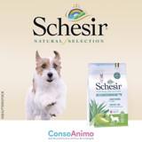 Testez l'alimentation Schesir Natural Selection à l'agneau pour chiens de petite taille