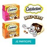 Testez les friandises Catisfactions Deli-Catz avec votre chat !