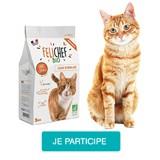 Testez les croquettes Felichef Bio sans céréales avec votre chat stérilisé
