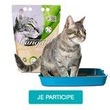 Testez la litière Végécompost & Bicarbonate Tranquille avec votre chat !