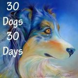Elle peint chaque jour un portrait pour aider les chiens abandonnés