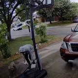 Il promène son chien dans la rue et s'arrête : ce que filme la caméra de sécurité provoque la colère