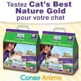 Testez gratuitement la litière Nature Gold Cat's Best, pour les chats à poils longs