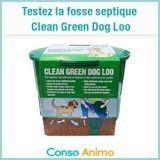Testez gratuitement la fosse septique pour chien Clean Green Dog Loo !