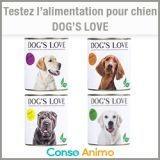 Testez gratuitement l'alimentation pour chien Dog's Love !