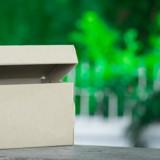 Elle trouve une boite en carton au fond de son jardin, quand elle l'ouvre c'est la panique totale