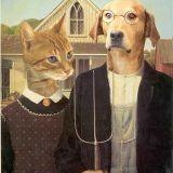 Les tableaux célèbres revisités... pas des chiens !