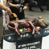 PETA : l'association choque avec un chien sur un barbecue en plein Paris