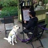 Un chien visite Disneyland et se fait tirer le portrait