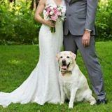 Pendant la première danse des mariés, leur chien leur fait la plus adorable des surprises