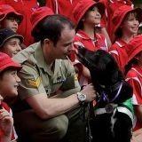 Un chien renifleur de bombe reçoit la médaille du courage