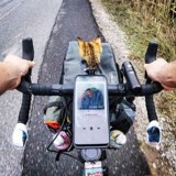 Ce cycliste fait le tour du monde à vélo avec le compagnon de route idéal ! (Vidéo)