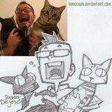 Il dessine des maîtres et leurs animaux et en fait des personnages de cartoons !