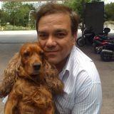 Didier Bourdon et son chien Bambou