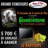 Plein de cadeaux à gagner à l'occasion de la sortie du film Frankenweenie !