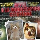Paris : Manifestation contre les actes de torture sur les animaux ce samedi !