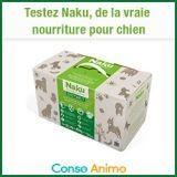 Testez gratuitement l'alimentation pour chien Naku, une alternative aux croquettes !