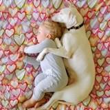Ce chien maltraité avait peur de tout le monde, sauf de ce bébé et leurs photos sont adorables