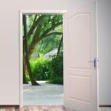 Le grand-père ouvre la porte qui mène au jardin : ce qu'il y a derrière arrache un cri à sa petite-fille !