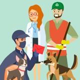 Covid-19 : belles initiatives, ressources et aides pour les soignants (et tous ceux qui travaillent) et leurs animaux !