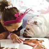 Touchant : elle capture le quotidien de sa fille et de son Bulldog (Photos)