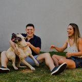 Ce couple pose avec leur chien pour leurs photos de fiançailles, le résultat est absolument hilarant