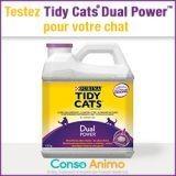 Testez gratuitement la litière Tidy Cats® Dual Power™