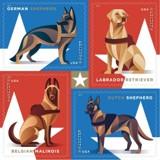 Ces chiens militaires vont avoir des timbres de collection à leur effigie