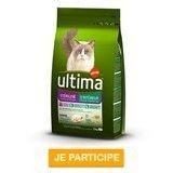 Testez l'aliment pour chat stérilisé d'intérieur ultima !